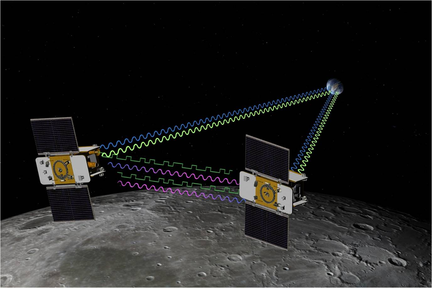 GRAIL spacecraft in orbit of the Moon